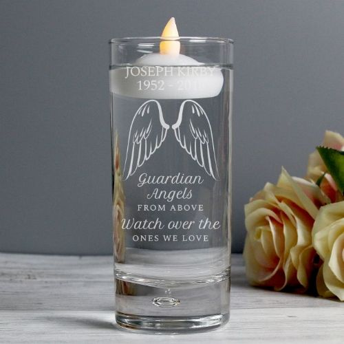 Guardian Angel Wings Floating Candle Holder